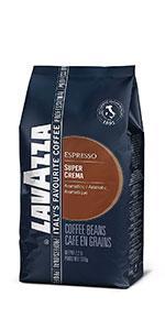 Lavazza Super Crema Whole Beans Medium Roast Best Coffee Best Beans Coffee