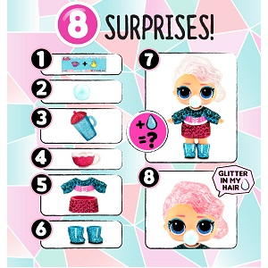 LOL Surprise! Glitter Globe Doll Winter Disco Series with Glitter Hair