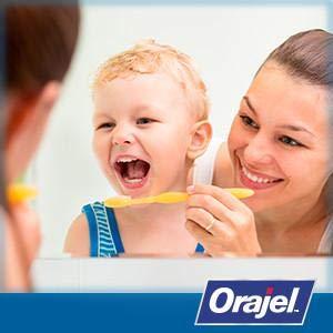 brushing teeth orajel kids