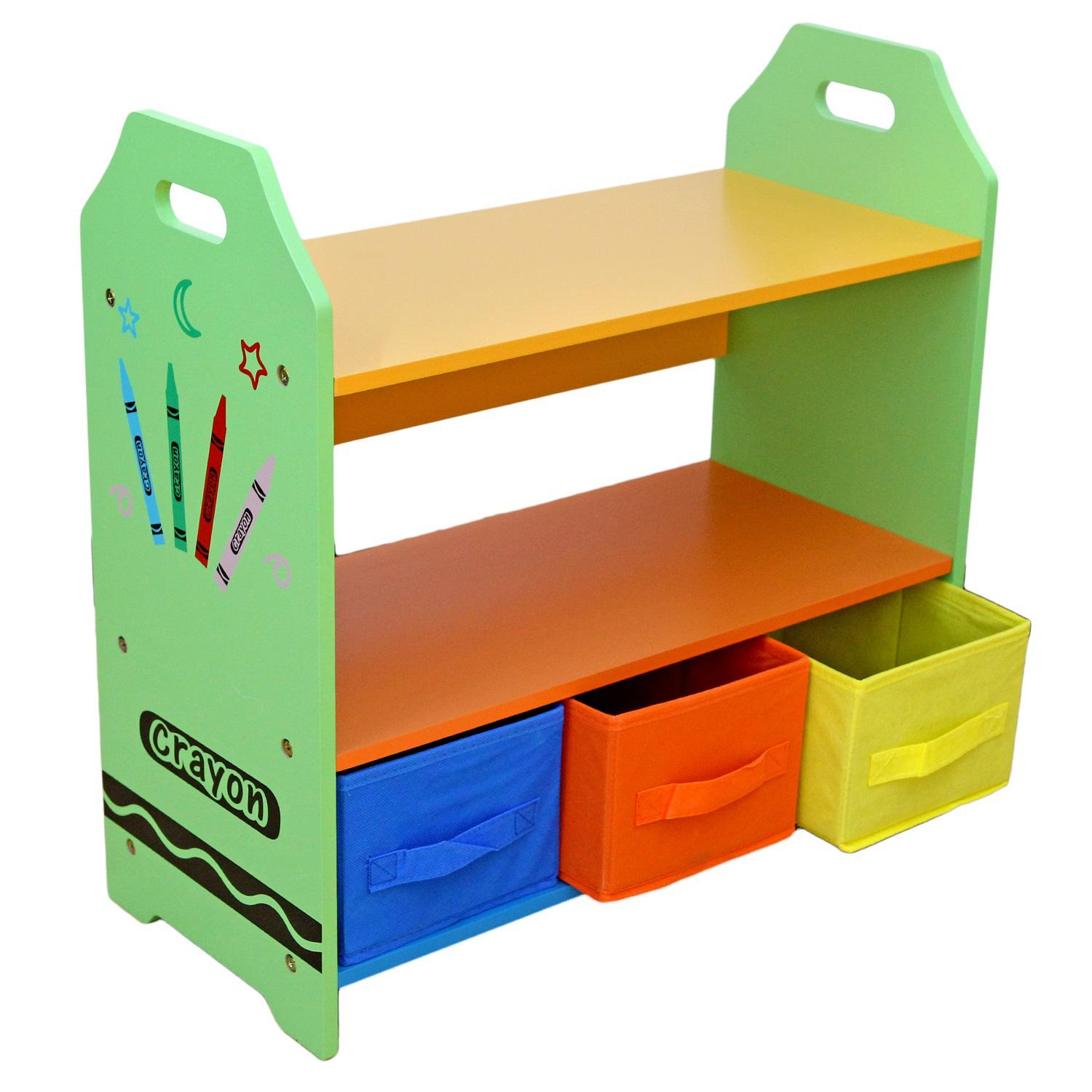 Kiddi Style Children Sized Wooden Shelves with Three ...