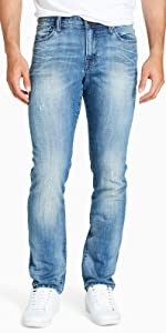 william rast men's dean slim straight leg denim jeans
