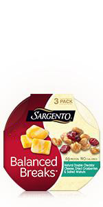 Double Cheddar, walnuts, cranberries, cheese, sargento, balanced breaks