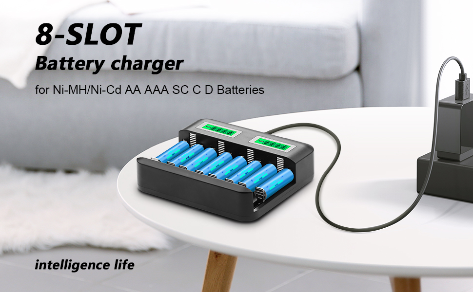 USB Lithium Battery Charger 1A High Rate LCD Single Groove for Li-ion IMR Hot