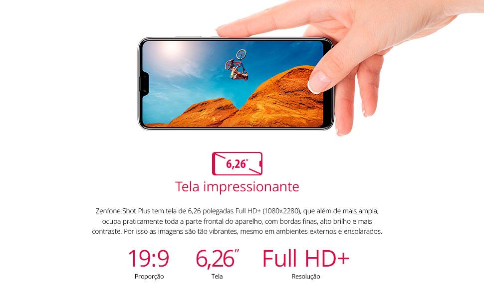 tela full hd + FHD maior