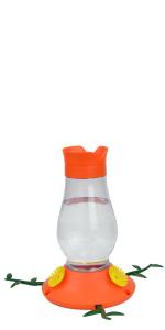 orange feeder, oriole feeder, nectar feeder, plastic oriole feeder