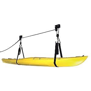 Kayak Hoist Lift Garage Storage Canoe Hoists 125 Lb Capacity