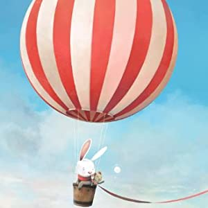 rabbit, mouse, wish, hot air balloon, flying, sky