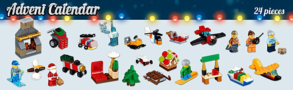 LEGO, City, Advent, Calendar, Christmas, santa, interactive, holiday, minifigures, creative play