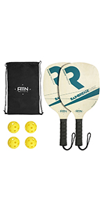 A11N WOODEN PICKLEBALL PADDLE SET