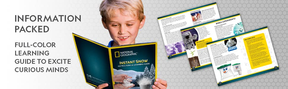 instant snow science kit toy stem boys girls