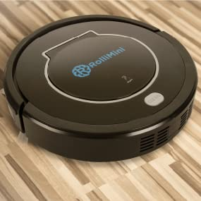 Amazon Com Rollibot Mini Bl100 Quiet Robotic Vacuum