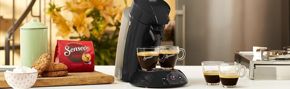 Philips Senseo Original XL HD6555/22 Cafetera Monodosis con Tecnología Coffee Boost, Negro, 22.5x46.6x37 cm: Philips: Amazon.es: Hogar