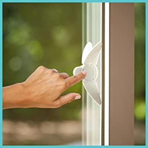 Sliding Door and Window Lock (sold separately)