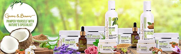 Green & Brown's Natural Cosmetics Organic for Skin, Face and Hair