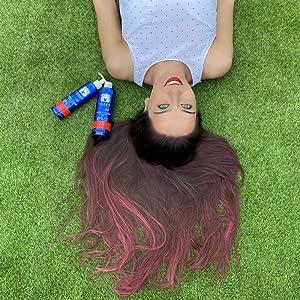 Valquer Profesional Champú Power Color cabellos teñidos. Vegano Y Sin Sulfatos (Violeta). Potenciador color cabello - 400 ml.