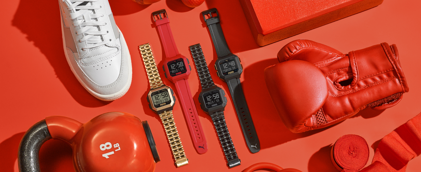PUMA Digital Watches Gold Watch Black Watch