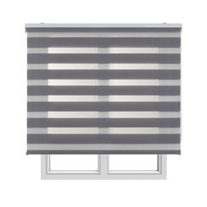 Estores Basic, Stores noche y día, Gris, 120x160cm, estores para ventana, persianas enrollables para el interior.: Amazon.es: Hogar