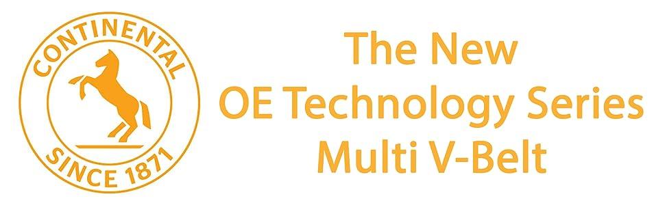 Continental OE Technology Series 4100580 10-Rib 58.0 Multi-V Belt