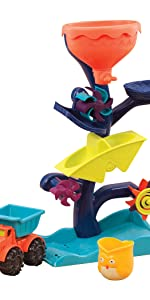 water wheel, water toy, summer, active, outdoor, learning, educational, play, toddler, kids