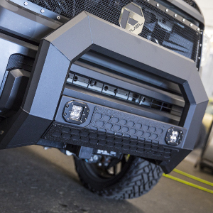 ARIES 2163100 AdvantEDGE Black Aluminum Truck Bull Bar with Lights 5-1//2 for Select Ford F-150