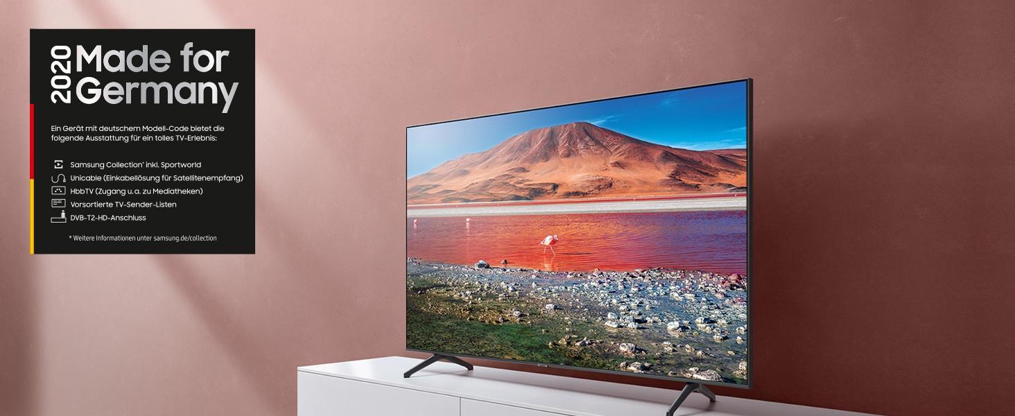 Samsung TU7199 125 cm (50 Zoll) LED Fernseher (Ultra HD