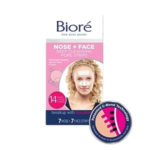Biore Pore Strips Combination Face Nose C Bond Technology Blackhead Removal Unclogs Pores