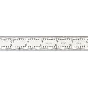 Combinaci/ón cuadrada con cabezal cuadrado de 30,48 cm Starrett C11H-12-4R hoja de cromo satinado grano 4R