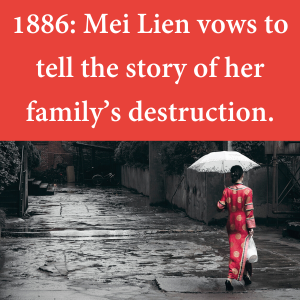 1886L Mei Lien vows to tell the story of her family's destruction