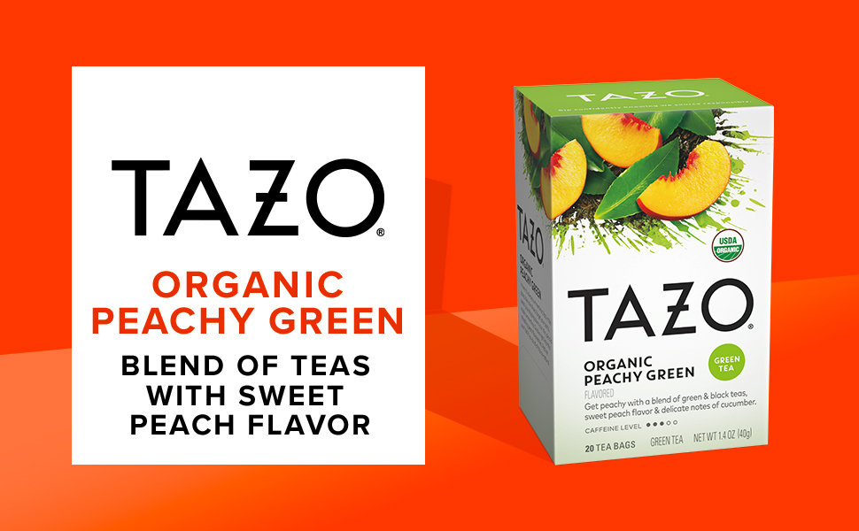 TAZO Organic Peachy Green Tea bags, 20 count