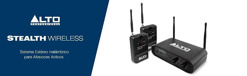 ALTO Professional Stealth Wireless - Sistema inalámbrico estéreo para altavoces amplificados