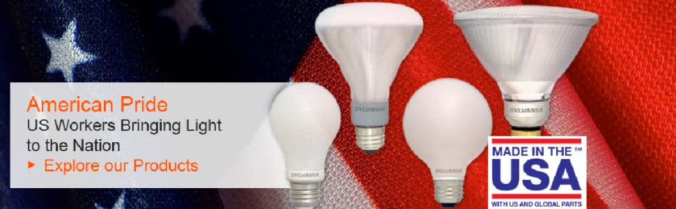 US Made , Made in the USA , SYLVANIA , LED , lighting , LED Bulbs , LED Lighting