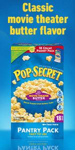 POP SECRET Movie Theater Butter Popcorn Box