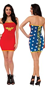 Wonder Woman Tube Dress with Lace up Back