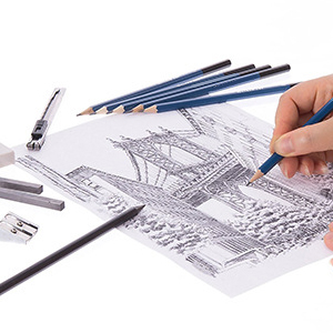 EBES Dibujo 45PCS Lápices de Dibujo del Artista y Bosquejo Material de dibujo Set Lápices Profesional Carbón Grafito Sticks para ArtistaPrincipiante ...