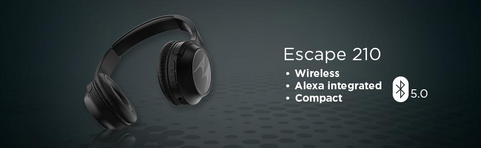 Motorola Escape 210 Over Ear Bluetooth Headphones With Amazon In Electronics