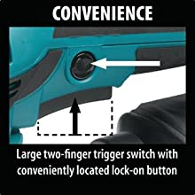 convenience large two finger switch conveniently lock-on button lock on