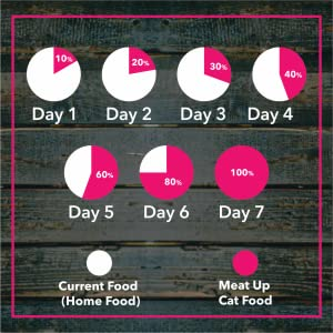 Transition to Meat Up cat adult food