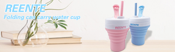 Reente 16.89oz Collapsible Coffee Cup,2 Pack Foldable Cup Eco Coffee Cup with Silicone Collapsible Straws, Travel Cups for Hot Drinks Leak Proof Reusable Coffee Mug for Travel,Silicone Coffee Mug
