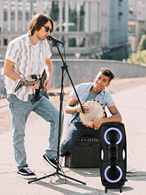 Portable Bluetooth Speaker; Outdoor Bluetooth Speaker; Recorder, Microphone; Party Lights; FM Radio;