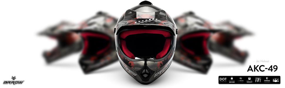 Armor Helmets Akc 49 Kinder Cross Helm Dot Schnellverschluss Tasche L 57 58cm Titan Auto