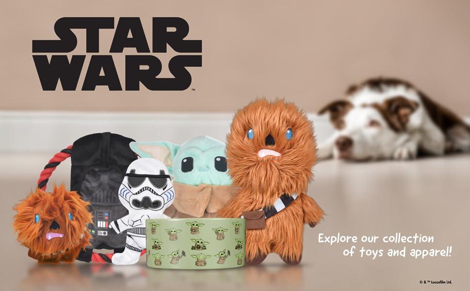 Starwars, dog, toys, plush, Yoda, Chewbecca, Darthvader, Baby yoda, the child
