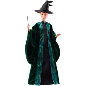 Muñeca coleccionable de 29 cm de la profesora McGonagall de Harry Potter con toga de Hogwarts, sombrero y varita mágica