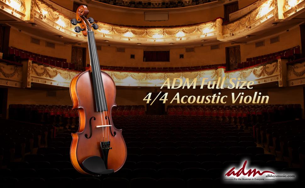 acoustic violin 4/4 full size kids beginner student kits violin case bow set