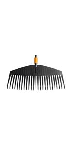 Mango QuikFit 156 cm · Cepillo de exterior · Extractor de malas hierbas · Azada · Rastrillo para hojas · Rastrillo de 12 dientes