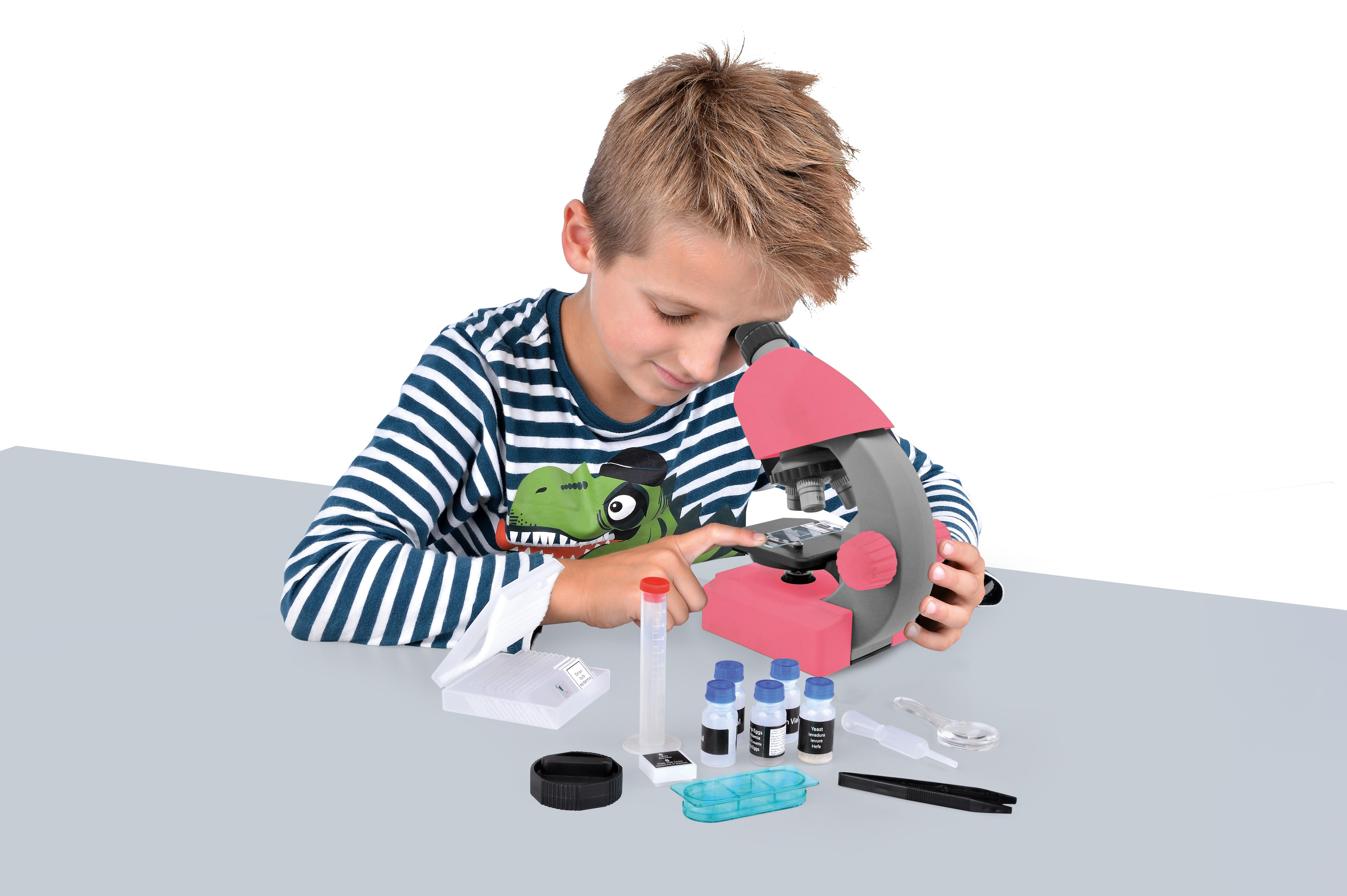 Bresser junior mikroskop 40 640x rosa: amazon.de: gewerbe