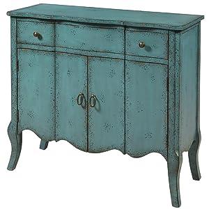 Amazon Com Pulaski P017011 Distressed Turquoise Accent Chest Blue