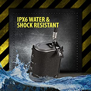 shock and water resistant