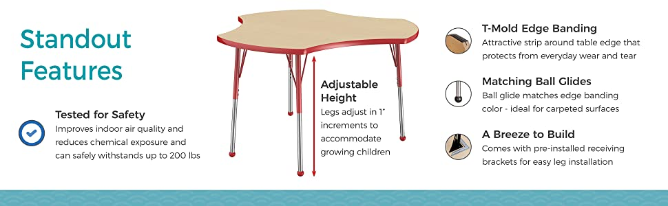 adjustable, activity table, collaborative, fdp, factory direct partners, classroom, office, school