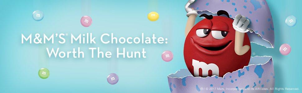 Make the Easter egg hunt fun with light pink and baby blue M&M'S Chocolate Candies.