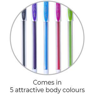Cello Deco Gel Pen    5 Attractive body colours